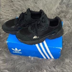 Adidas black sneakers size 7.5